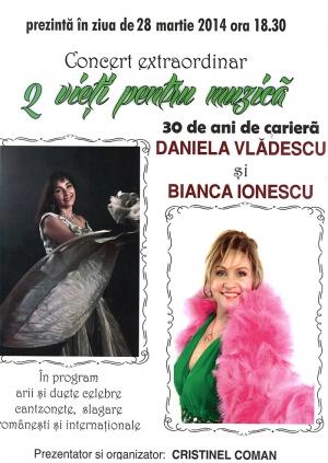 """Concert extraordinar """"2 vieți pentru muzică"""" în Sala de spectacole """"Florin Piersic"""" - Mina Trotuș"""