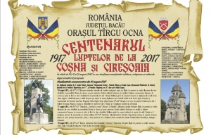 Programul manifestărilor dedicate Centenarului luptelor de la Coşna şi Cireşoaia - 10-13 august 2017