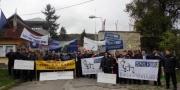 Protest la Spitalul penitenciar Târgu-Ocna