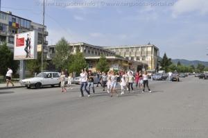 Flashmob în Staţiunea turistică de interes naţional Târgu-Ocna